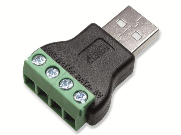 Steckverbinder, USB A, Schraubanschluss, Stecker