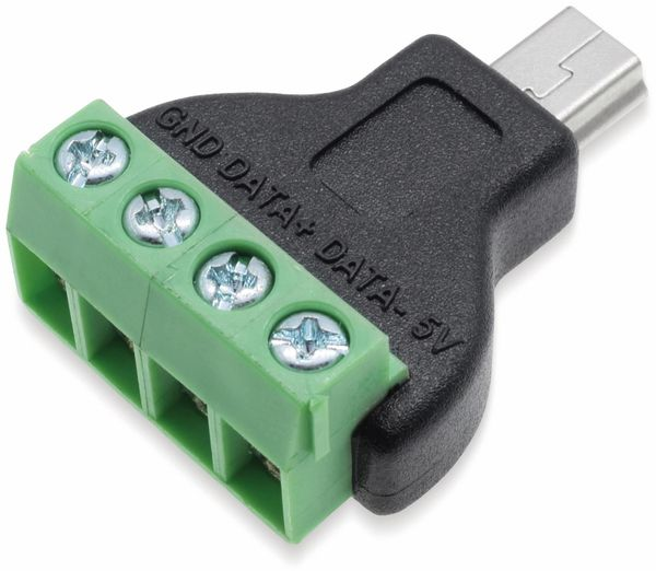 Steckverbinder, Mini-USB, Schraubanschl, Stecker - Produktbild 2