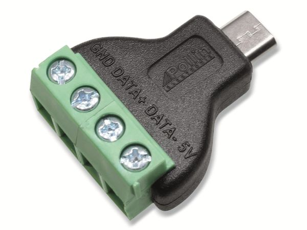 Steckverbinder, Micro-USB, Schraubanschl, Stecker