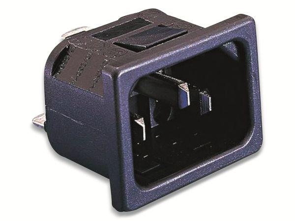 Bulgin, PX0575/10/28, Kaltgeräte-Steckverbinder PX Stecker, vertikal, Gesamtpolzahl:2+PE,10A,Schwarz