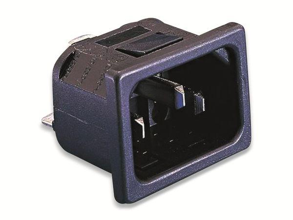 Bulgin, PX0575/15/28, Kaltgeräte-Steckverbinder PX Stecker, vertikal, Gesamtpolzahl:2+PE,10A,Schwarz