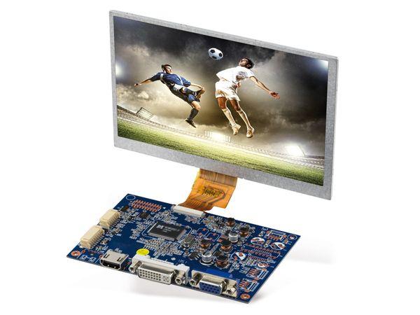 "7"" (17,78 cm) Display-Set LS-7, HDMI/DVI/VGA/CVBS, B-Ware - Produktbild 2"