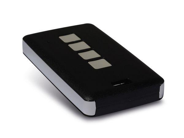 Fernbedienungsgehäuse TEKO 13124.44, 4 Tasten, schwarz