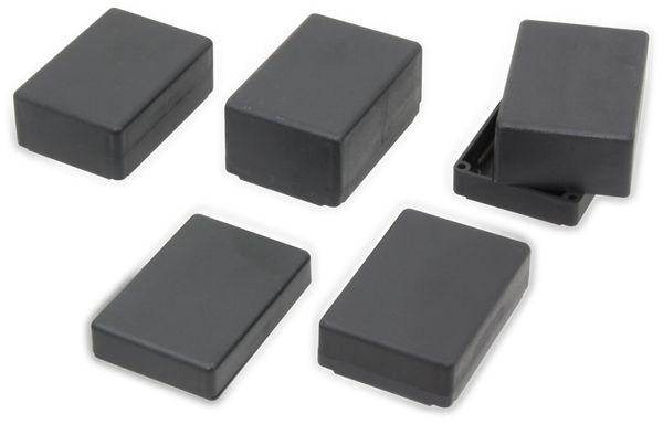 Kunststoff Kleingehäuse DONAU ELEKTRONIK, KG22M, schwarz