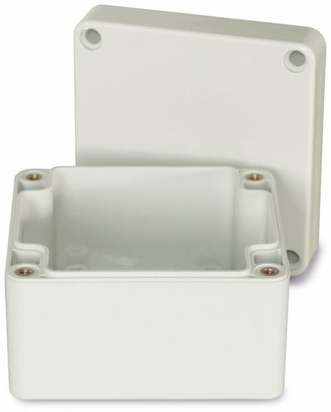Modulgehäuse ABS, 83x81x56 mm, IP65, lichtgrau - Produktbild 2
