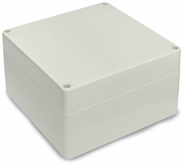 Modulgehäuse ABS, 160x160x90 mm, IP65, lichtgrau