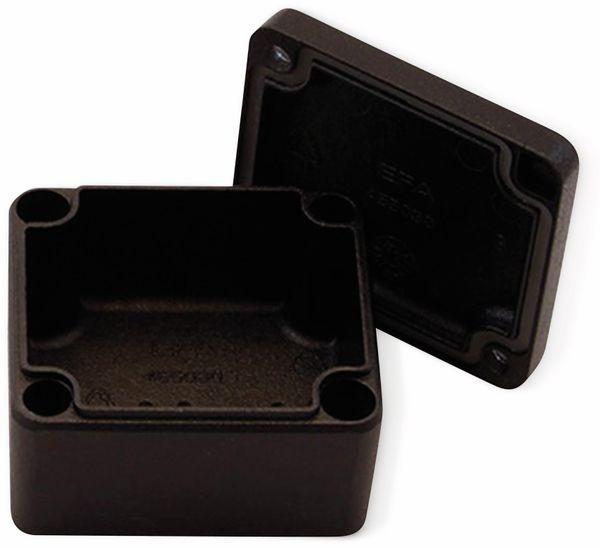 Alu-Gehäuse Efabox, 80x75x57 mm, schwarz, IP68 - Produktbild 3