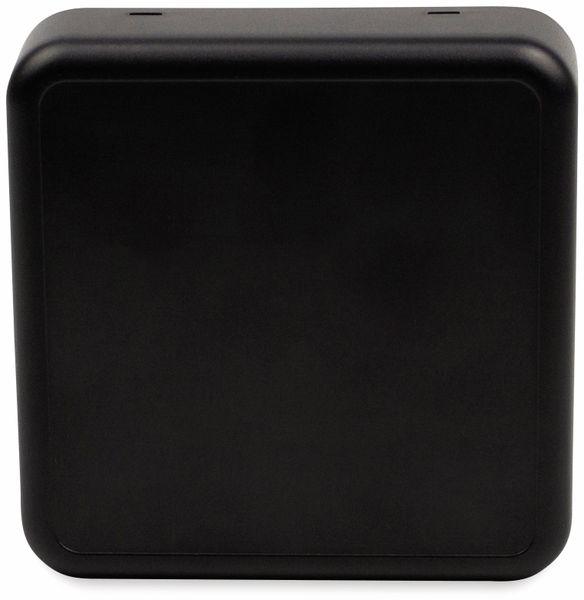 Raumsensorgehäuse, AXXATRONIC, CamdenBoss CBRS01SBK, schwarz, 86x86x25,5mm