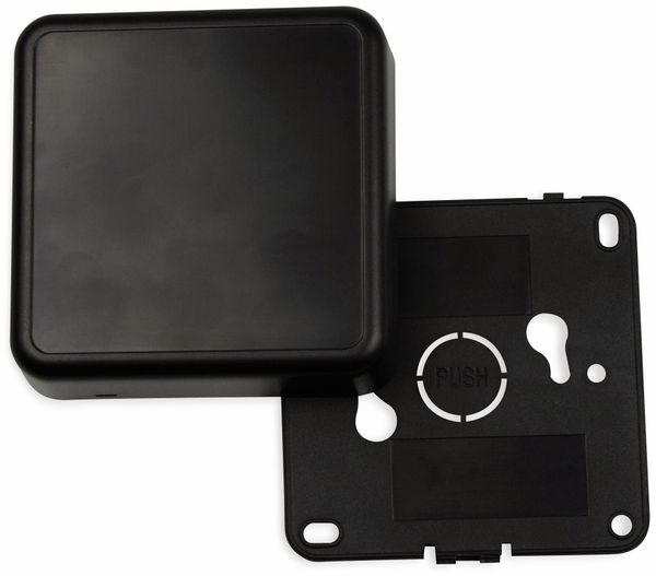 Raumsensorgehäuse, AXXATRONIC, CamdenBoss CBRS01SBK, schwarz, 86x86x25,5mm - Produktbild 2