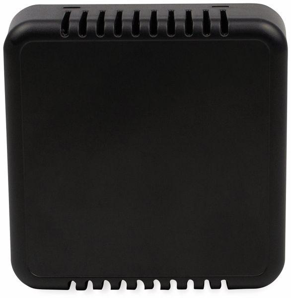 Raumsensorgehäuse, AXXATRONIC, CamdenBoss CBRS01VBK, schwarz, Lüftungsschlitze, 86x86x25,5mm