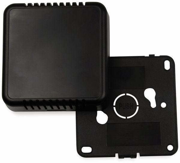 Raumsensorgehäuse, AXXATRONIC, CamdenBoss CBRS01VBK, schwarz, Lüftungsschlitze, 86x86x25,5mm - Produktbild 2
