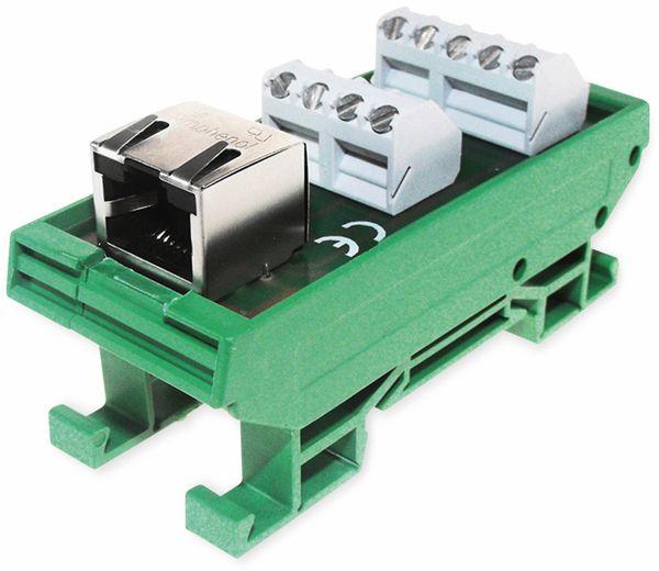 Platinenhalter mit RJ45 Stecker, AXXATRONIC, CamdenBoss CIM/RJ45