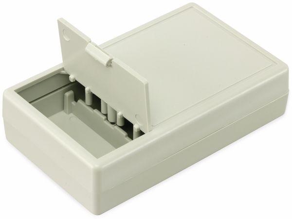 Kunststoffgehäuse mit Batteriefach, STRAPUBOX, Typ 6000 GR, 103 x 62 x 26 mm - Produktbild 3