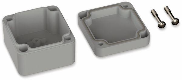 POLLIN, Polycarbonat Gehäuse, 52 x 50 x 35 mm, IP66, Lichtgrau - Produktbild 2