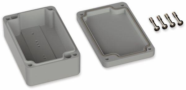 POLLIN, Polycarbonat Gehäuse, 98 x 64 x 36,4 mm, IP66, Lichtgrau - Produktbild 2