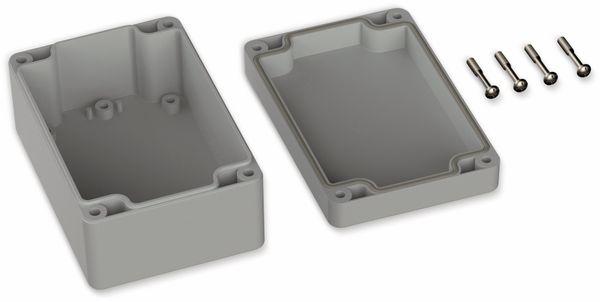 POLLIN, Polycarbonat Gehäuse, 120 x 80 x 55 mm, IP66, Lichtgrau - Produktbild 2