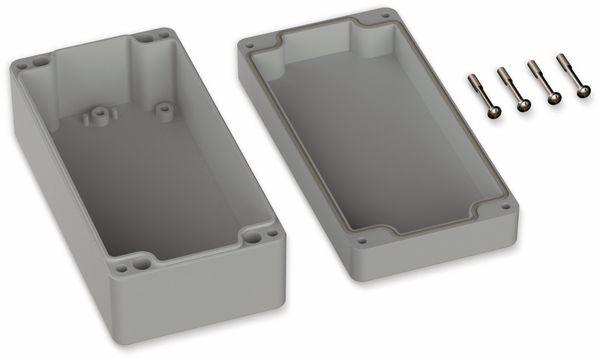 POLLIN, Polycarbonat Gehäuse, 160 x 80 x 60 mm, IP66, Lichtgrau - Produktbild 2