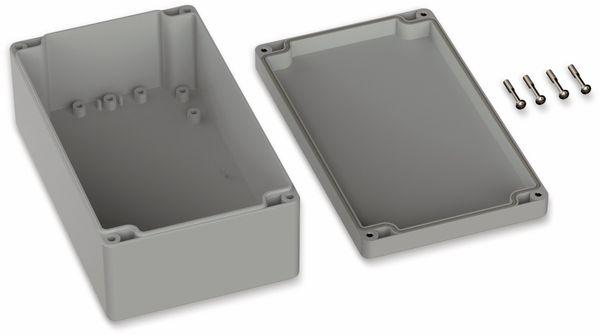POLLIN, Polycarbonat Gehäuse, 200 x 120 x 75 mm, IP66, Lichtgrau - Produktbild 2