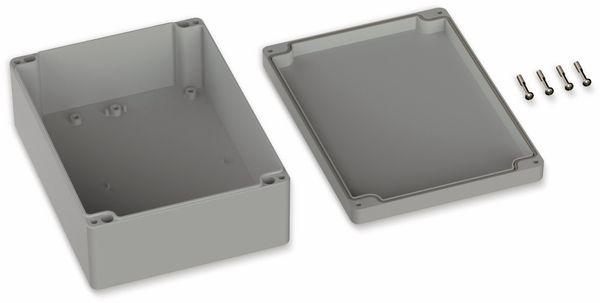 POLLIN, Polycarbonat Gehäuse, 200 x 150 x 75 mm, IP65, Lichtgrau - Produktbild 2