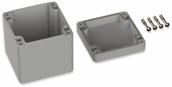 POLLIN, Polycarbonat Gehäuse, 82 x 80 x 85 mm, IP66, Lichtgrau - Produktbild 2
