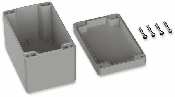 POLLIN, Polycarbonat Gehäuse, 120 x 80 x 85 mm, IP65, Lichtgrau - Produktbild 2