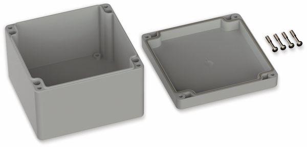 POLLIN, Polycarbonat Gehäuse, 122 x 120 x 85 mm, IP65, Lichtgrau - Produktbild 2