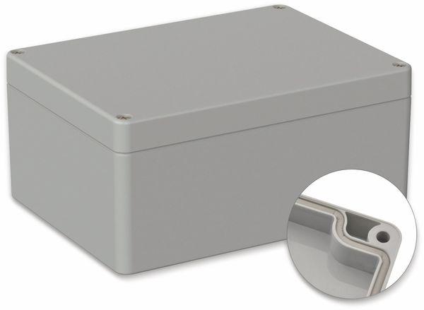 POLLIN, Polycarbonat Gehäuse, 160 x 120 x 75 mm, IP65, Lichtgrau