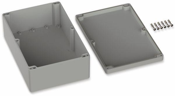 POLLIN, Polycarbonat Gehäuse, 240,3 x 160,3 x 90 mm, IP66, Lichtgrau - Produktbild 2