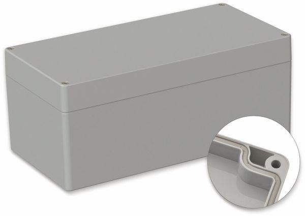 POLLIN, Polycarbonat Gehäuse, 240,5 x 120 x 100,5 mm, IP66, Lichtgrau