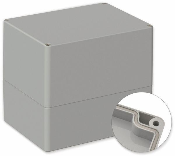 POLLIN, Polycarbonat Gehäuse, 160 x 120 x 140 mm, IP66, Lichtgrau