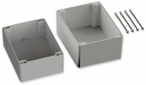 POLLIN, Polycarbonat Gehäuse, 160 x 120 x 140 mm, IP66, Lichtgrau - Produktbild 2