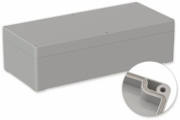 POLLIN, Polycarbonat Gehäuse, 360 x 160 x 100 mm, IP66, Lichtgrau