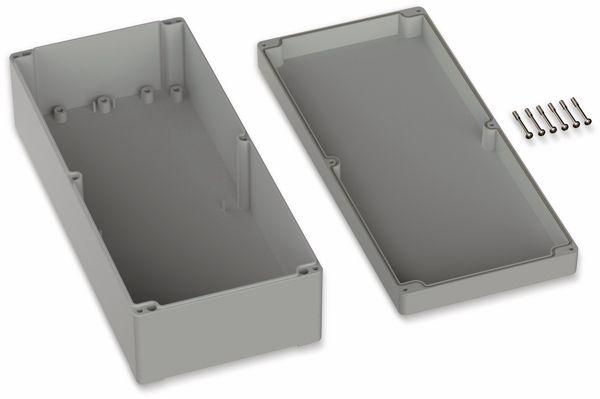 POLLIN, Polycarbonat Gehäuse, 360 x 160 x 100 mm, IP66, Lichtgrau - Produktbild 2