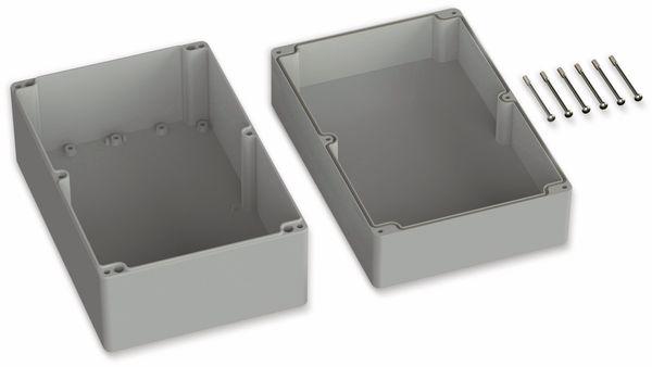 POLLIN, Polycarbonat Gehäuse, 300 x 230 x 110 mm, IP65, Lichtgrau - Produktbild 2