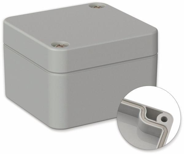 POLLIN, ABS Gehäuse, 52 x 50 x 35 mm, IP66, Lichtgrau