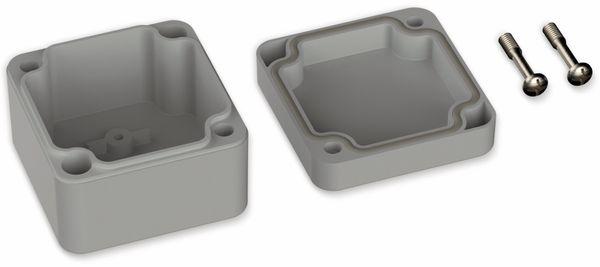 POLLIN, ABS Gehäuse, 52 x 50 x 35 mm, IP66, Lichtgrau - Produktbild 2