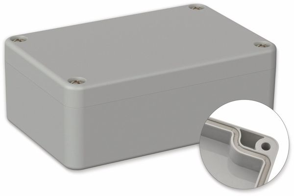 POLLIN, ABS Gehäuse, 98 x 64 x 36,4 mm, IP66, Lichtgrau