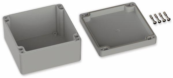 POLLIN, ABS Gehäuse, 122 x 120 x 55 mm, IP65, Lichtgrau - Produktbild 2