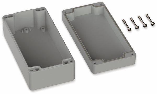 POLLIN, ABS Gehäuse, 160 x 80 x 60 mm, IP66, Lichtgrau - Produktbild 2