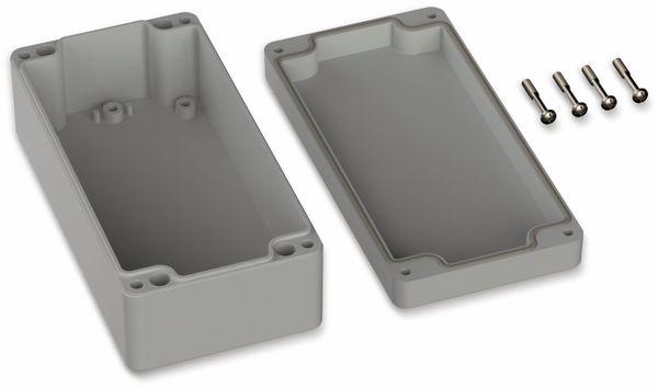 POLLIN, ABS Gehäuse, 160 x 80 x 55 mm, IP66, Lichtgrau - Produktbild 2