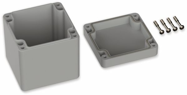 POLLIN, ABS Gehäuse, 82 x 80 x 85 mm, IP66, Lichtgrau - Produktbild 2