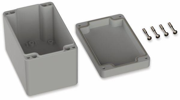 POLLIN, ABS Gehäuse, 120 x 80 x 85 mm, IP65, Lichtgrau - Produktbild 2