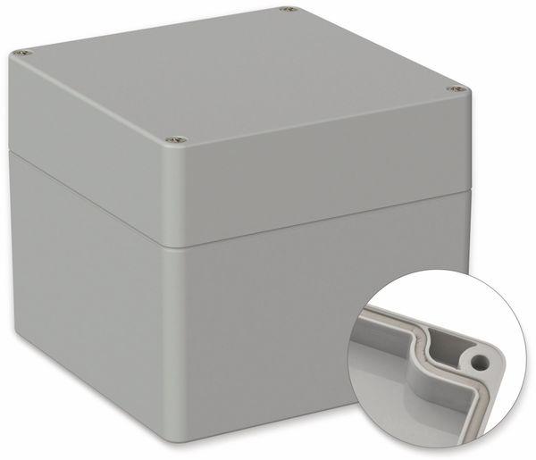 POLLIN, ABS Gehäuse, 122 x 120 x 105 mm, IP66, Lichtgrau