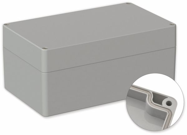 POLLIN, ABS Gehäuse, 200 x 120 x 90 mm, IP66, Lichtgrau