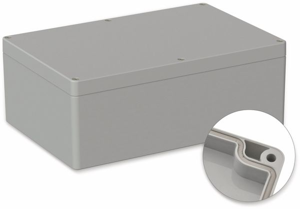 POLLIN, ABS Gehäuse, 240,3 x 160,3 x 90 mm, IP66, Lichtgrau