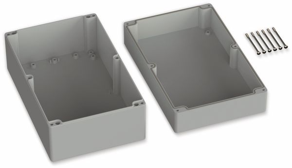 POLLIN, ABS Gehäuse, 250 x 160 x 119 mm, IP66, Lichtgrau - Produktbild 2
