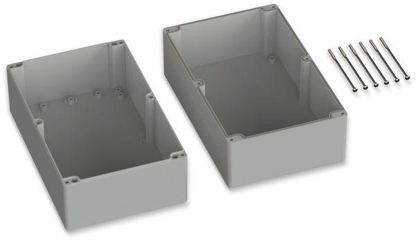 POLLIN, ABS Gehäuse, 250 x 160 x 150 mm, IP66, Lichtgrau - Produktbild 2