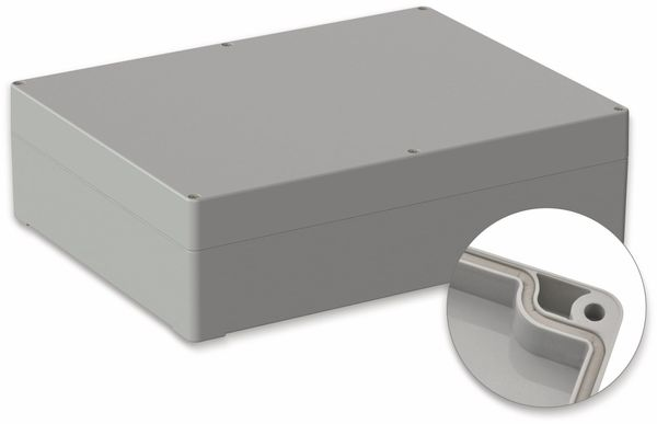 POLLIN, ABS Gehäuse, 300 x 230 x 85 mm, IP65, Lichtgrau