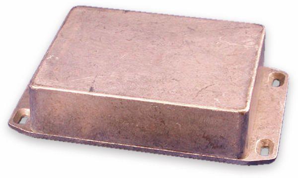 Hammond, Aluminium-Gehäuse, 1590BBFL, 118,5x93,5x34 mm, mit Befestigungsflansch