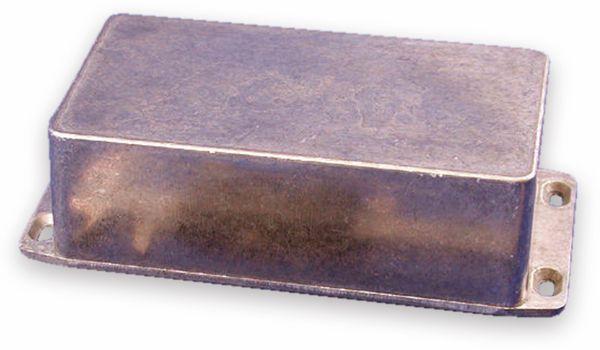 Hammond, Aluminium-Gehäuse, 1590P1FL, 153x82x50 mm, mit Befestigungsflansch